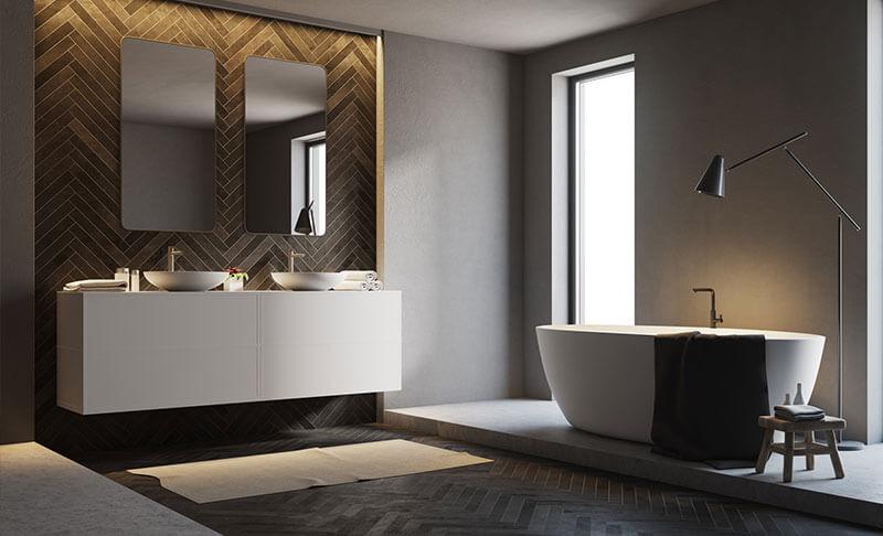 Dunkles Badezimmer in Düsseldorf